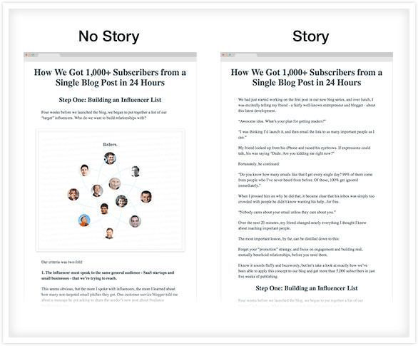 storytelling techniques story no story
