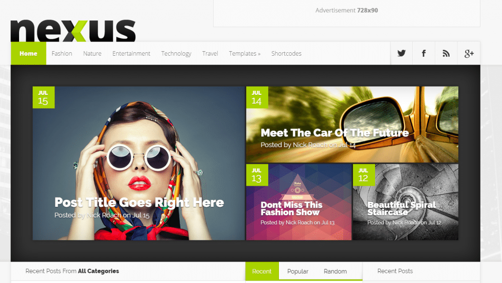nexus fastest loading wordpress themes