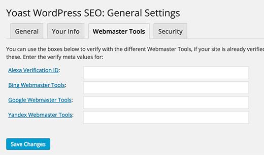 must have wordpress plugins yoast general settings