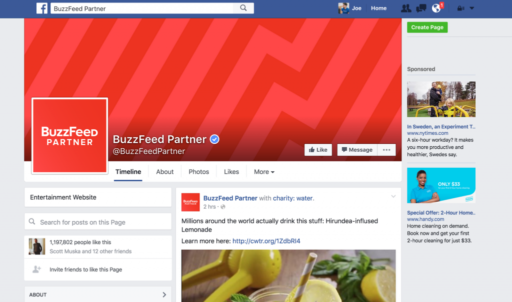 facebook advertising guidelines buzzfeed partners