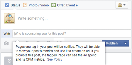 facebook advertising guidelines with tag