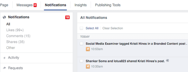 facebook advertising guidelines with tag notification