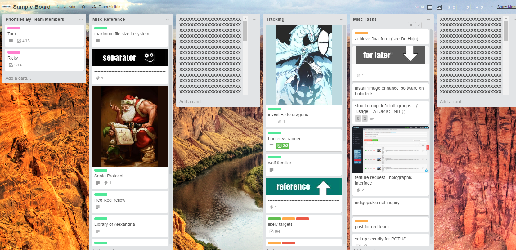 How To Use Trello Sample Board