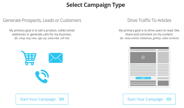 Targeted Content Marketing campaign type