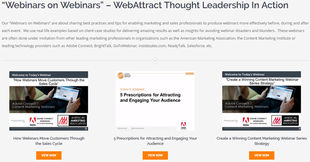 how to create a webinar presentation webattract