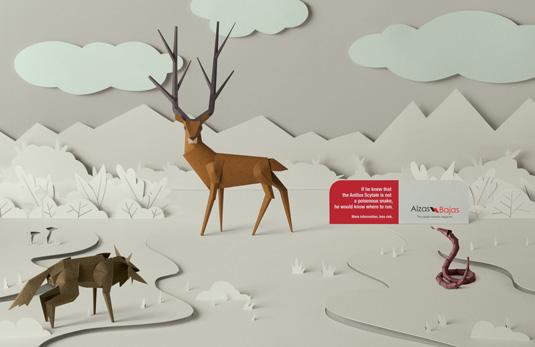 Alzas Bajas print ad, ad visuals