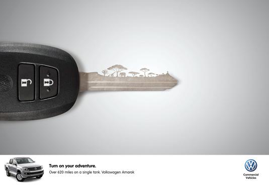Volkswagen ad, visuals in advertising
