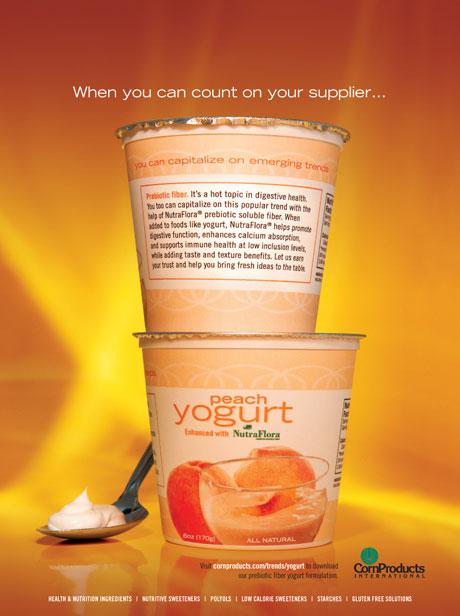 yogurt ad visuals