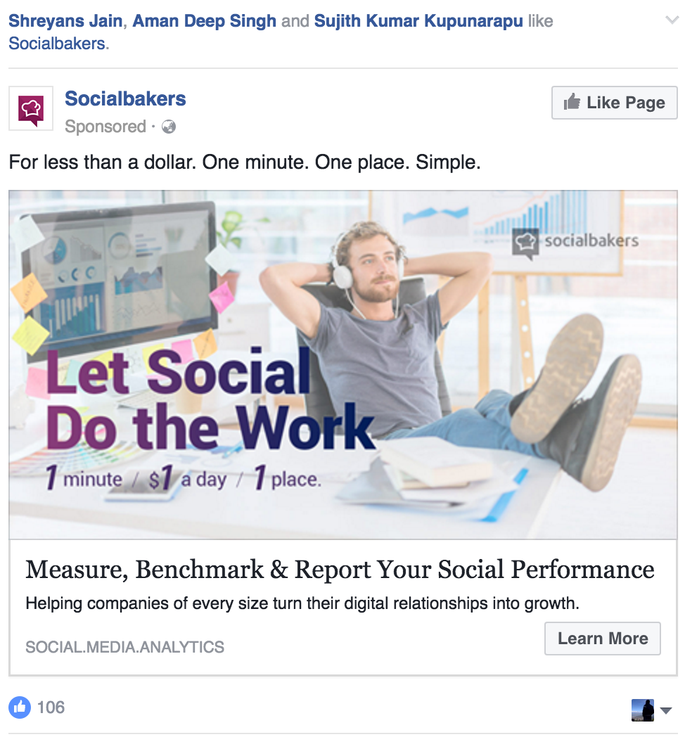 socialbakers ad, ad visuals