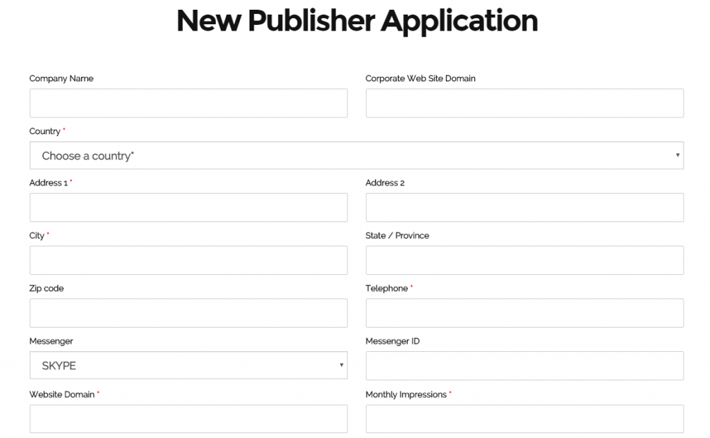 New-Publisher-Application2, sign up