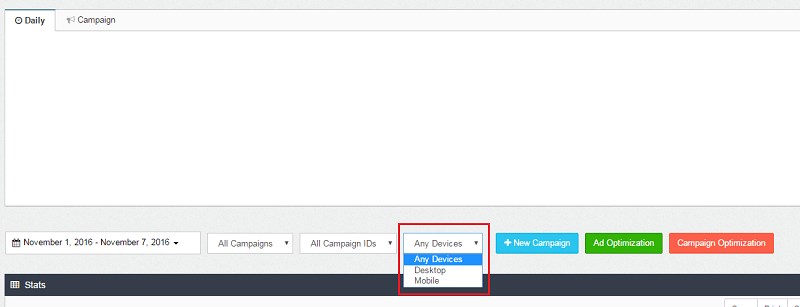 native ads titan all devices filter
